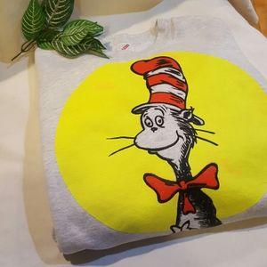 Dr Seuss Cat In The Hat Sweatshirt XL